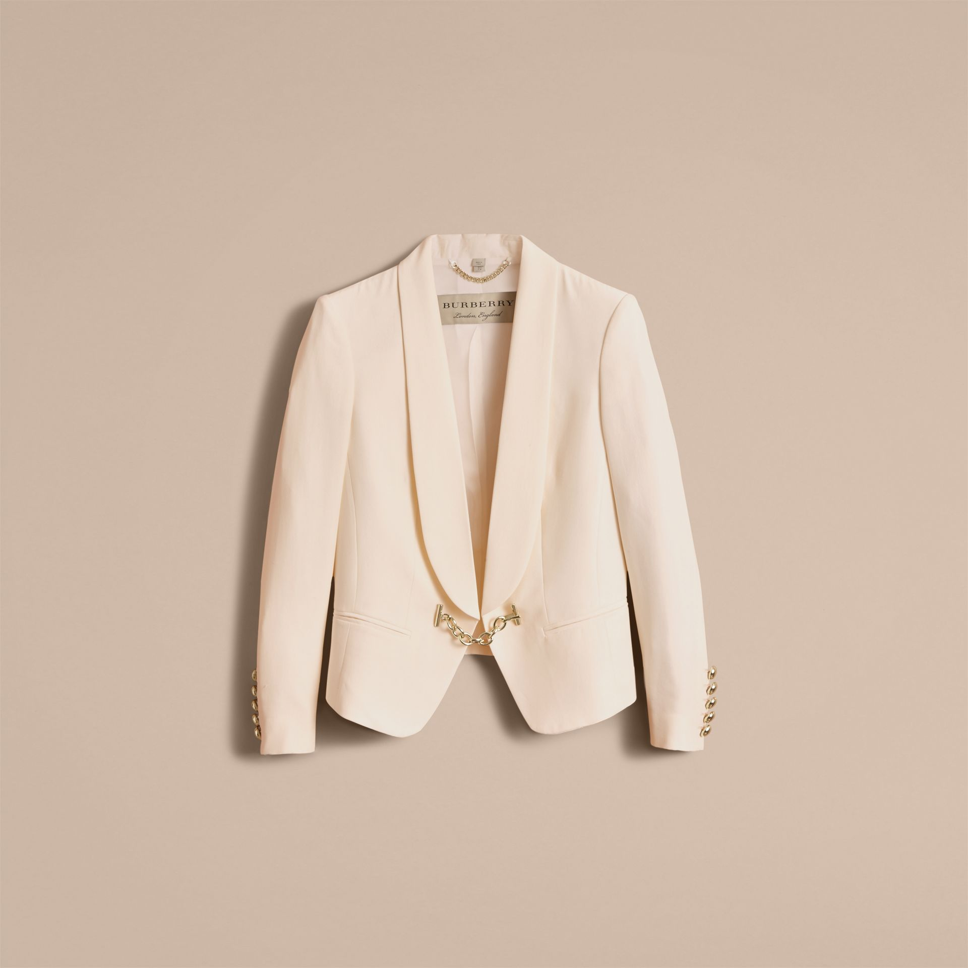 Silk Tuxedo Jacket with Chain Closure - gallery image 4
