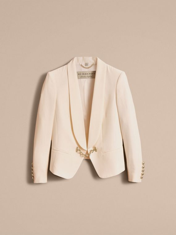 Silk Tuxedo Jacket with Chain Closure - cell image 3