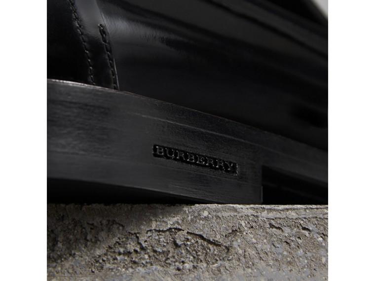 Mocassins de couro em dois tons (Preto) - Homens | Burberry - cell image 1