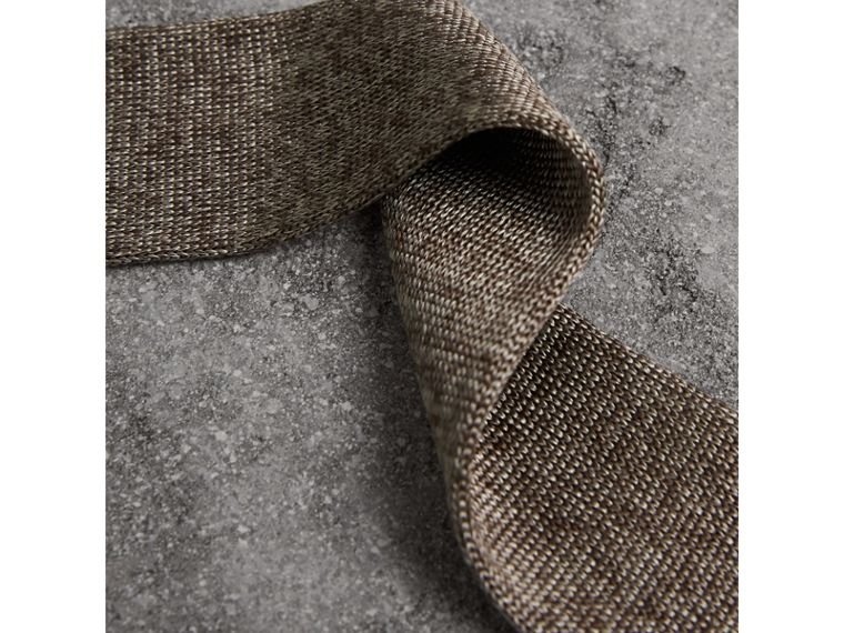 Slim Cut Knitted Silk Tie in Malt Brown - Men | Burberry - cell image 1