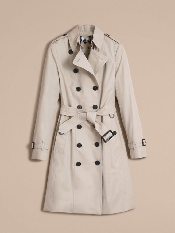Stone The Sandringham – Long Heritage Trench Coat Stone - cell image 3
