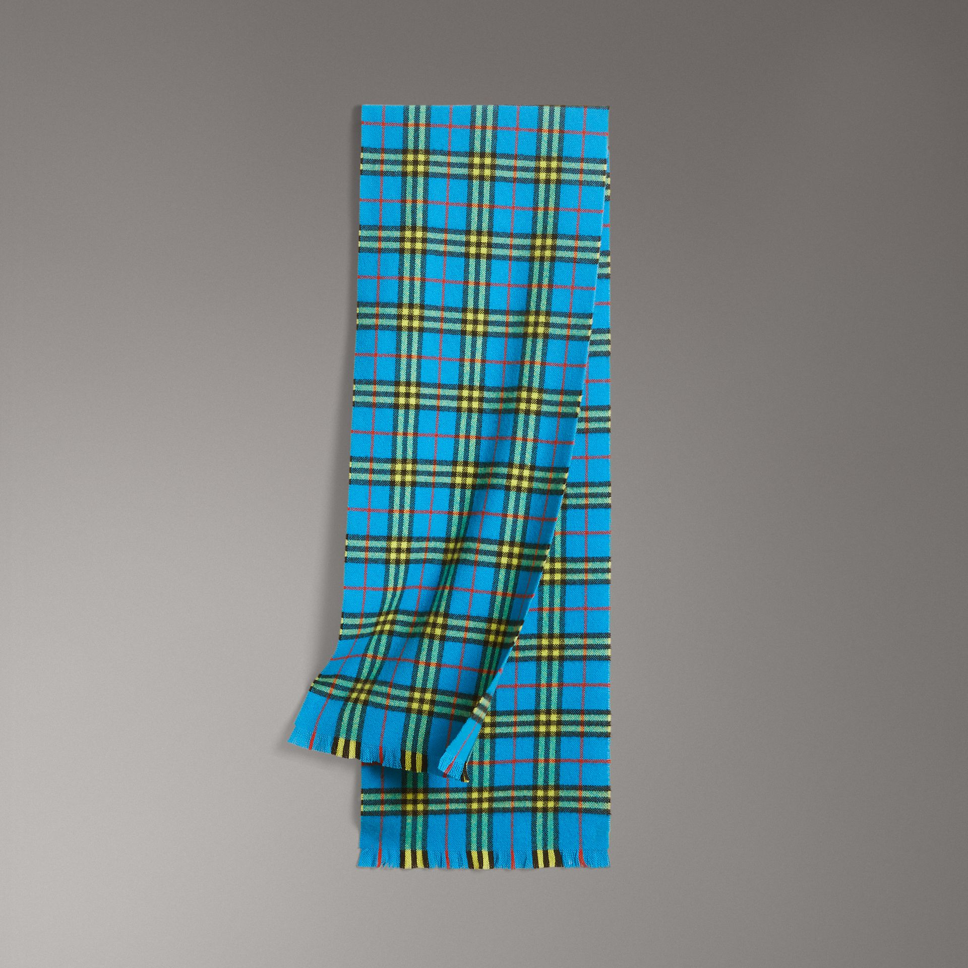 Check Cashmere Scarf in Bright Sky Blue | Burberry United States - gallery image 0