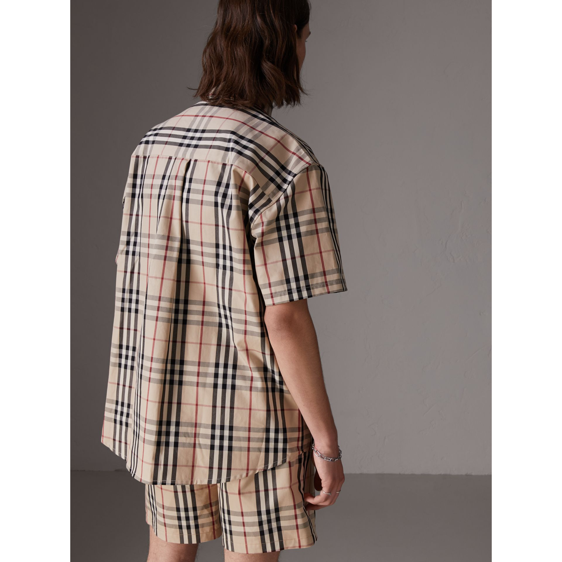Gosha x Burberry Short-sleeve Check Shirt in Honey | Burberry United States - gallery image 5