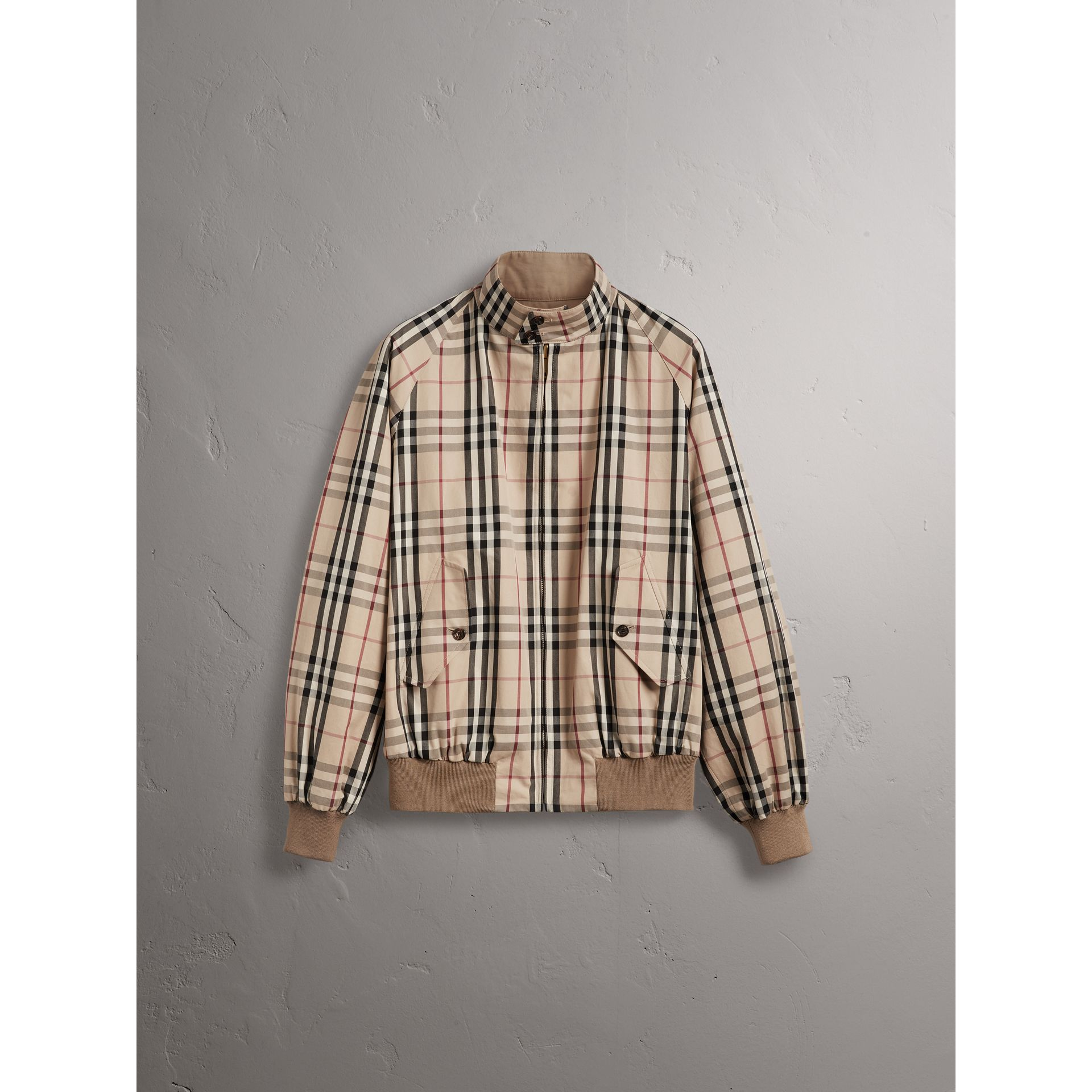 Gosha x Burberry Reversible Harrington Jacket in Honey | Burberry Australia - gallery image 8