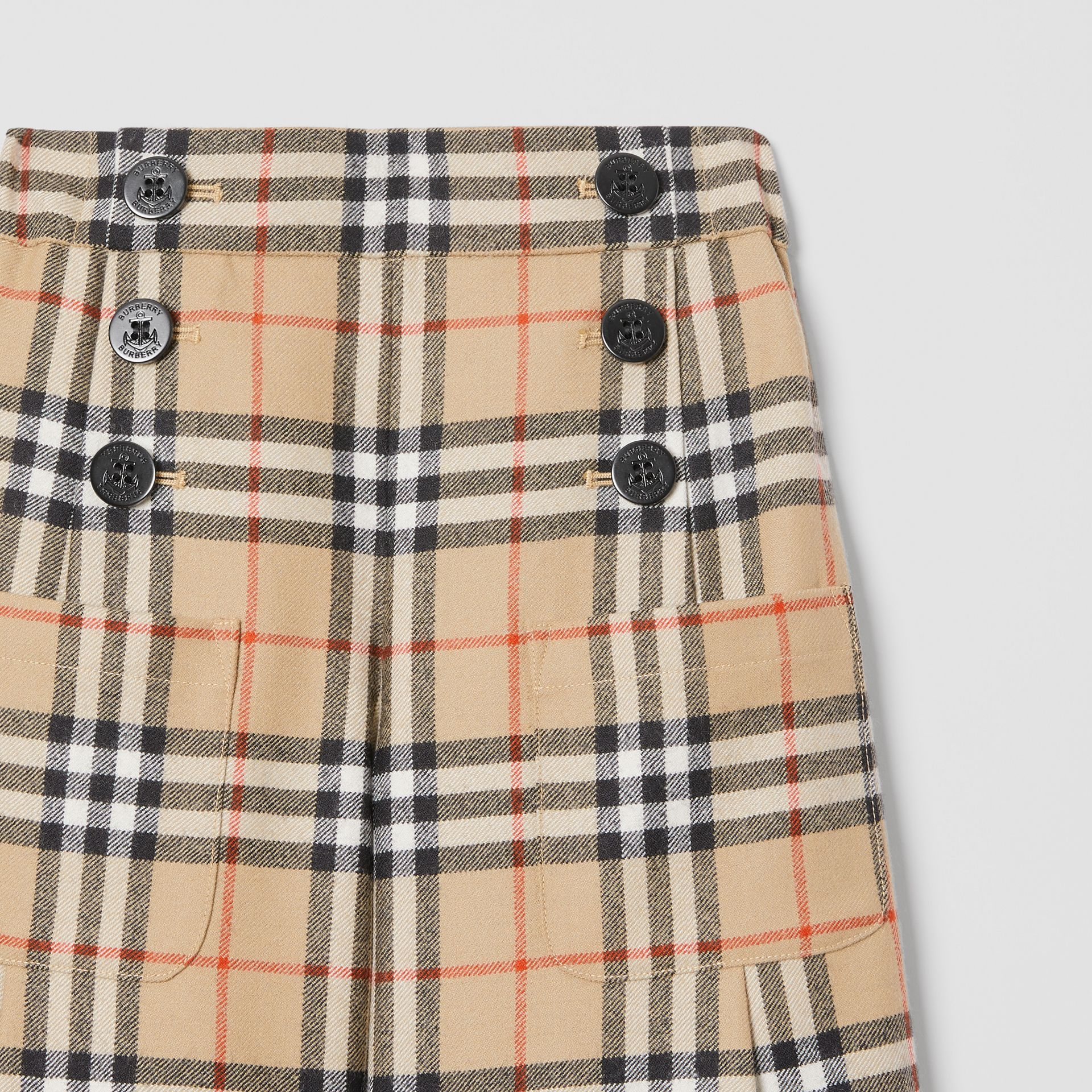 Vintage Check Wool Sailor Trousers in Archive Beige | Burberry - gallery image 4