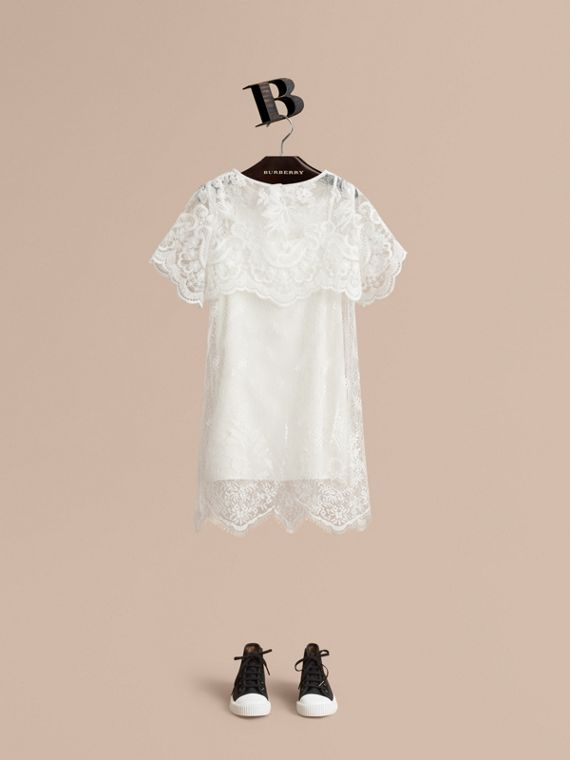 Layered Lace Shift Dress - Girl | Burberry