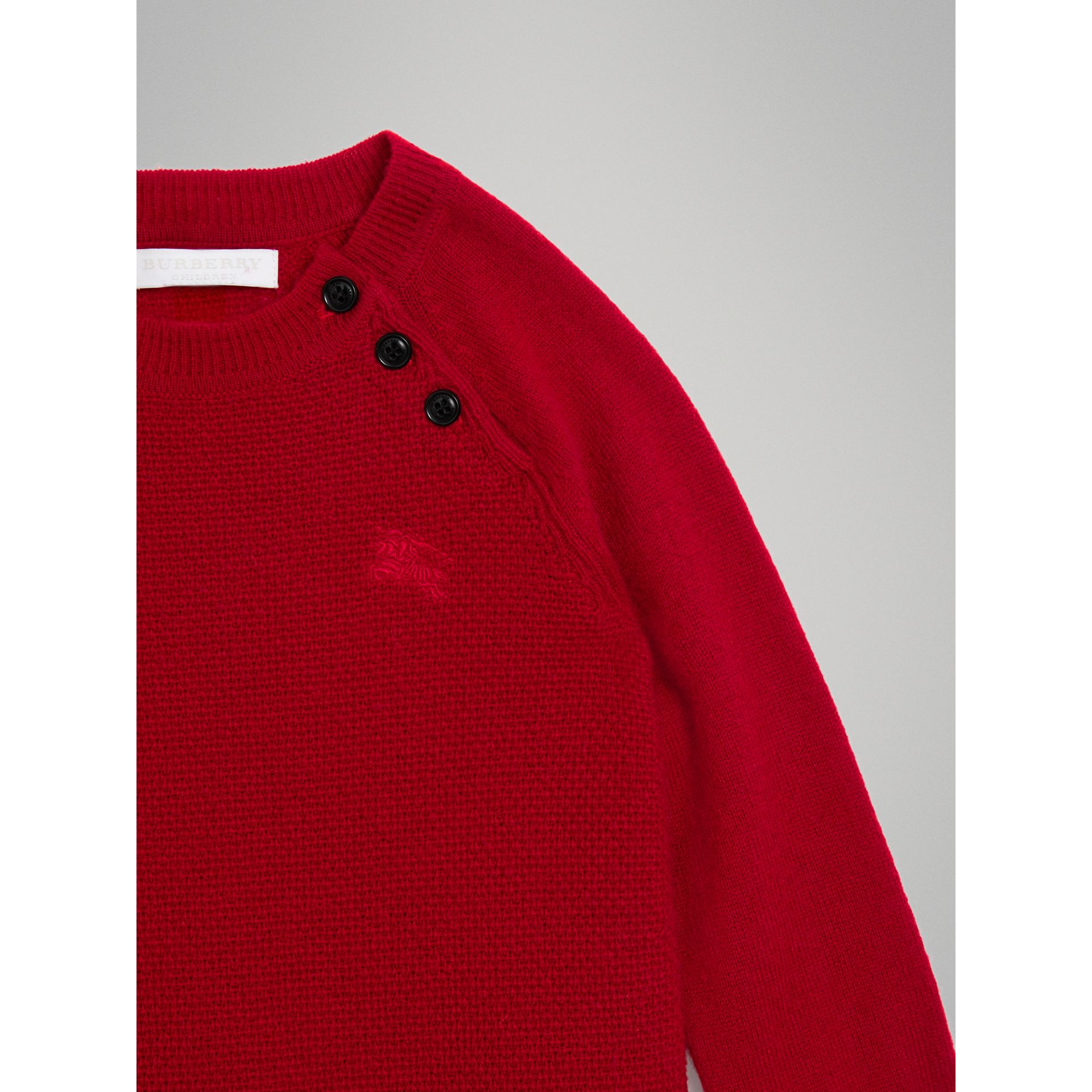 Cashmere Sweater Dress in Parade Red - Girl | Burberry United Kingdom - gallery image 4