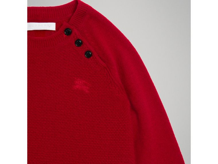 Cashmere Sweater Dress in Parade Red - Girl | Burberry - cell image 4