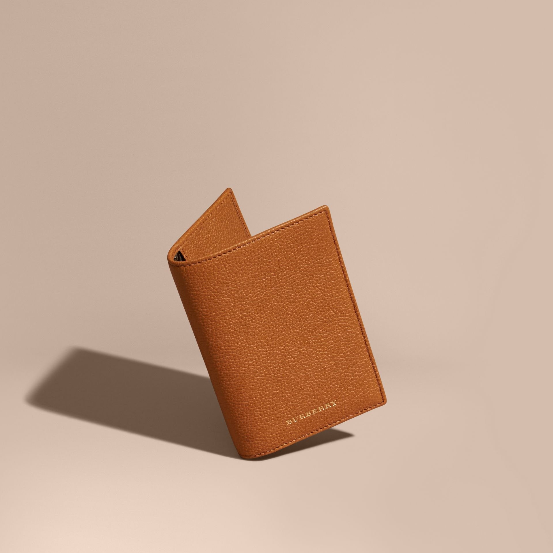 Light toffee Grainy Leather Passport and Card Holder Light Toffee - gallery image 1