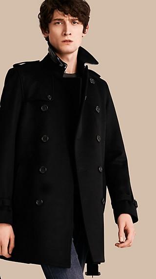 Trench-coat en laine et cachemire