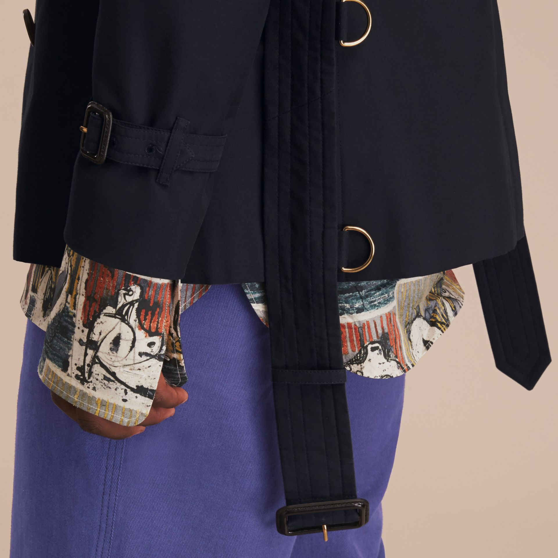 Navy The Sandringham – Short Heritage Trench Coat Navy - gallery image 7