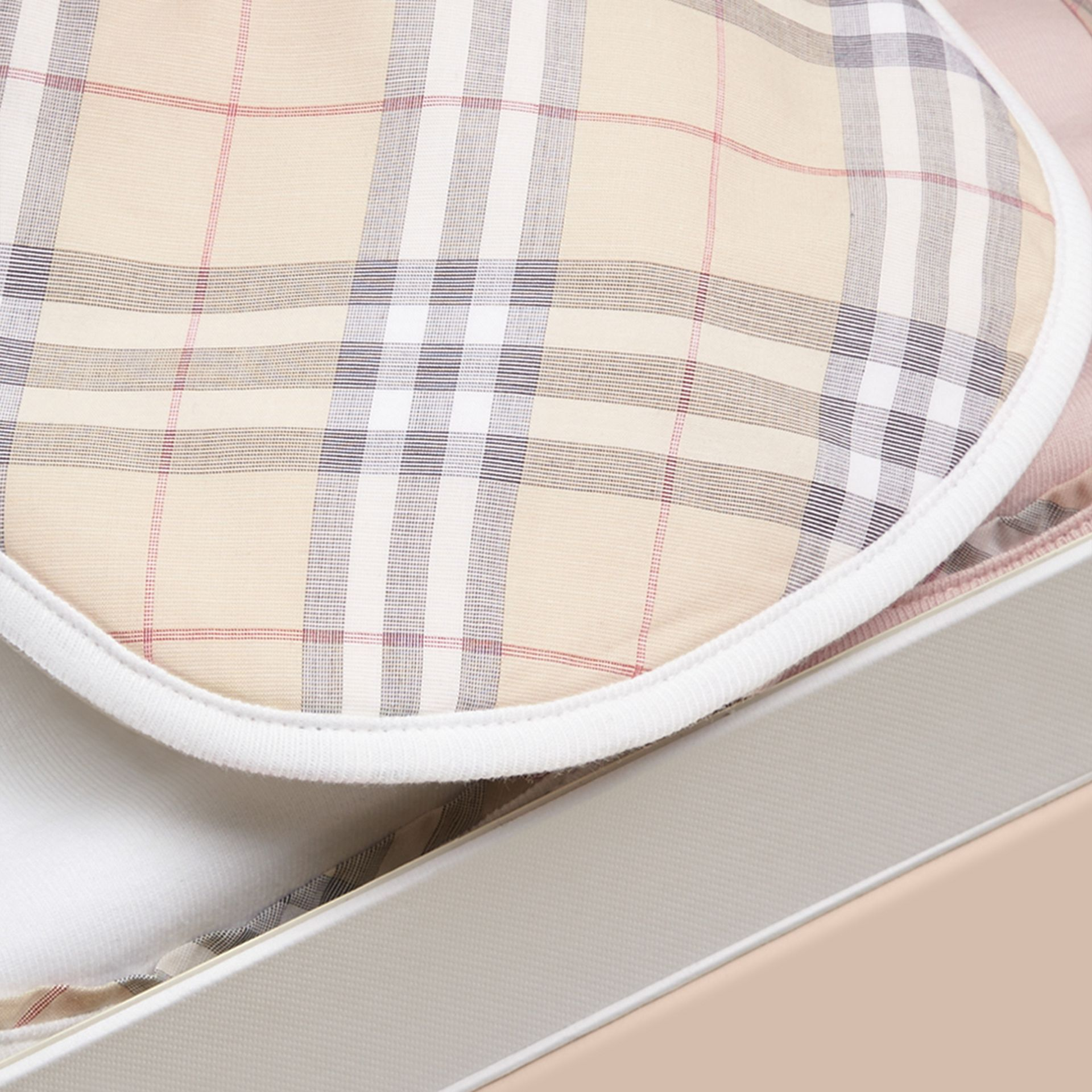 Cotton Three-piece Baby Gift Set in White | Burberry - gallery image 2
