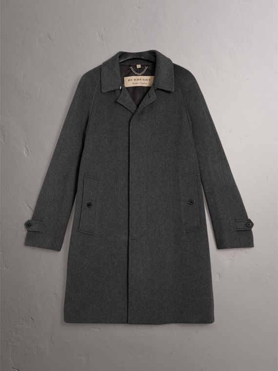 Cashmere Car Coat in Pewter Melange - Men | Burberry - cell image 3