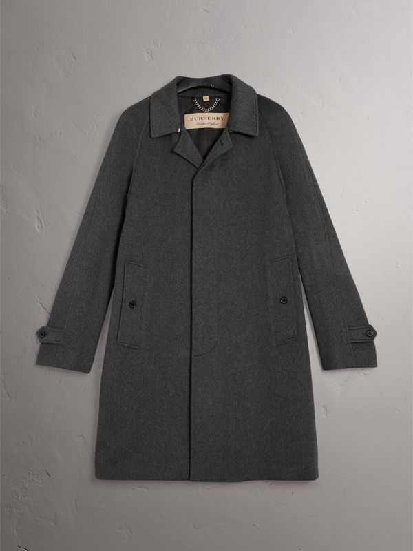 Cashmere Car Coat in Pewter Melange - Men | Burberry United States - cell image 3