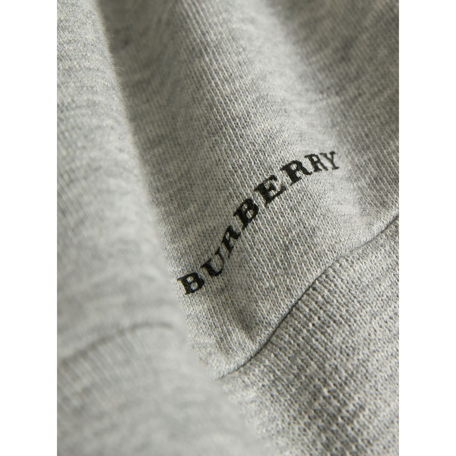 Best in Show Print Cotton Jersey Sweatshirt in Grey Melange - Boy | Burberry Australia - gallery image 2
