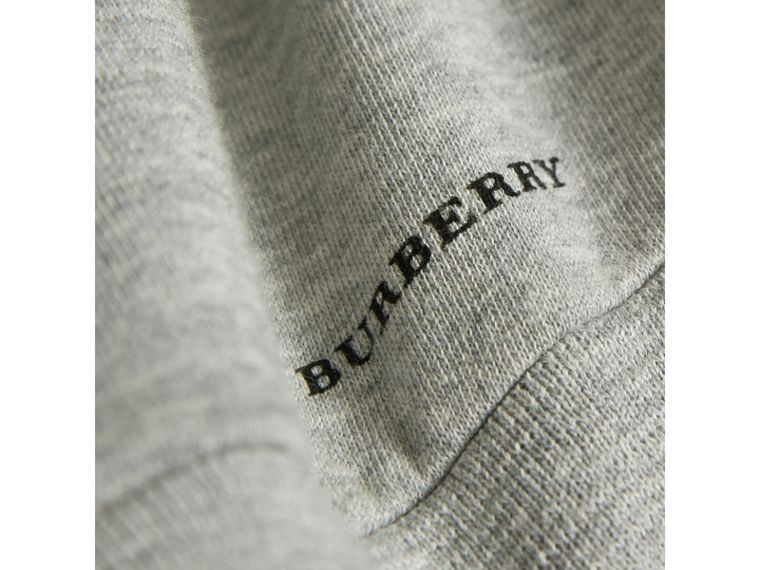 Best in Show Print Cotton Jersey Sweatshirt in Grey Melange - Boy | Burberry - cell image 1