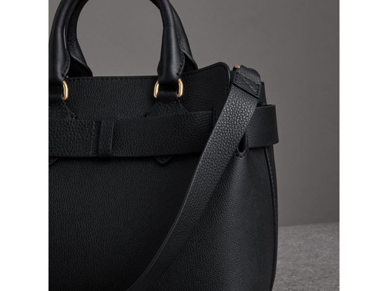 The Small Leather Belt Bag in Black - Women | Burberry - cell image 4