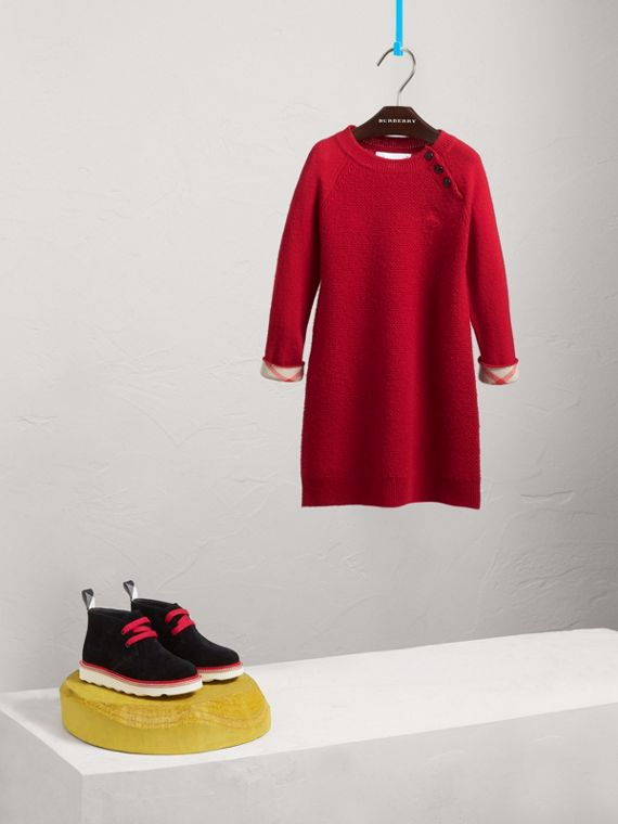 Cashmere Sweater Dress in Parade Red - Girl | Burberry - cell image 2