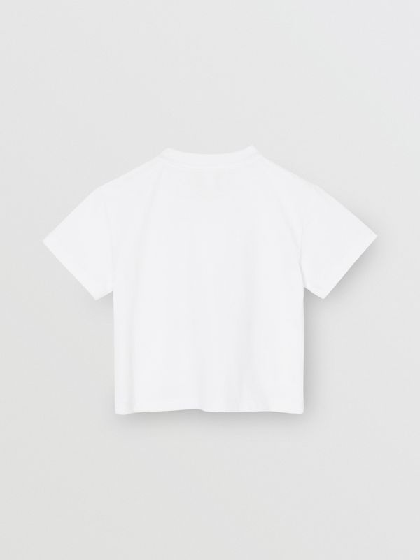 Chandelier Print Cotton T-shirt in White - Children | Burberry - cell image 3
