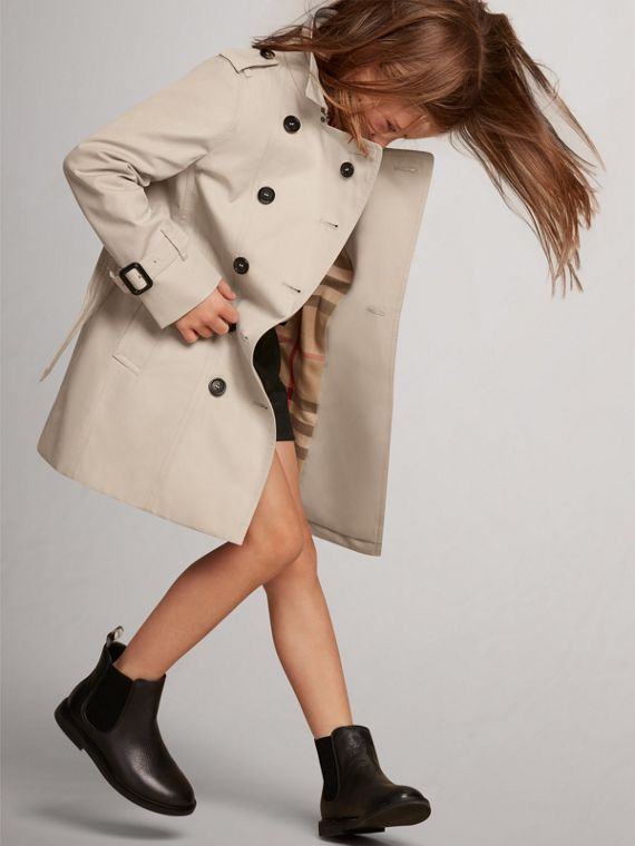 The Sandringham Trench Coat in Stone - Girl | Burberry - cell image 2
