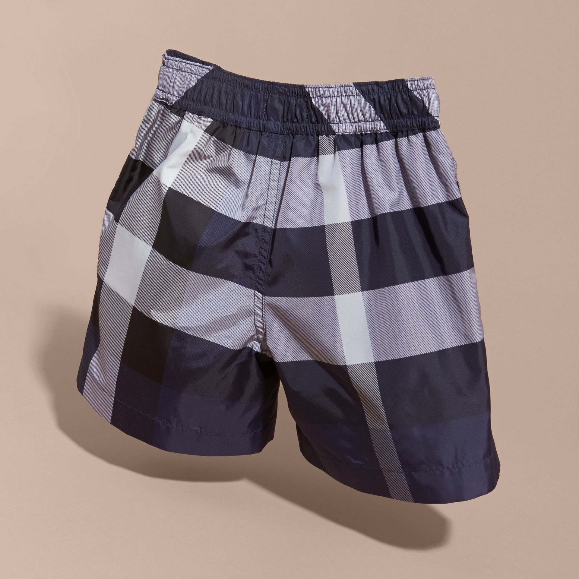 Check Technical Swim Shorts in Ink - Boy | Burberry Canada - gallery image 4