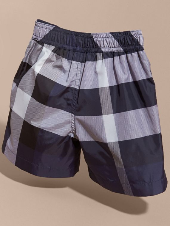 Check Technical Swim Shorts in Ink - Boy | Burberry - cell image 3