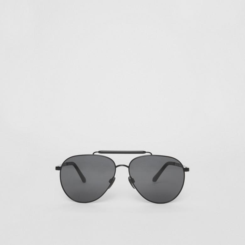Burberry - Fliegersonnenbrille mit oberer Rahmenlinie - 1