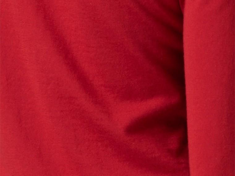 Rosso militare Cardigan in lana con paramontura con motivo check Rosso Militare - cell image 1