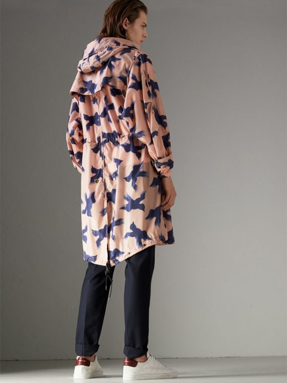 Bird Print Lightweight Parka in Apricot Pink - Men | Burberry - cell image 2
