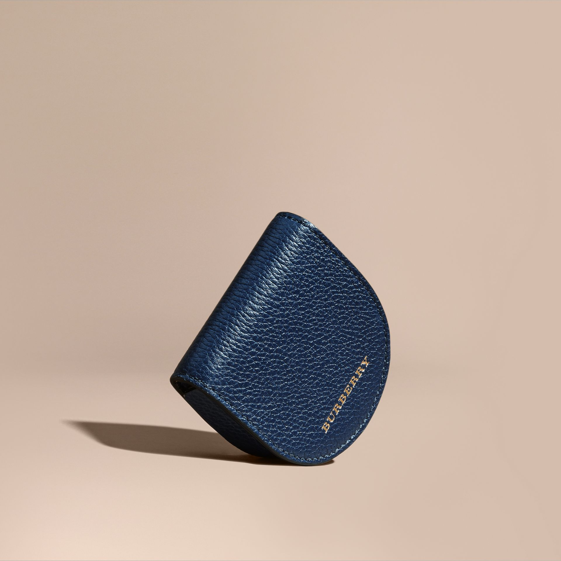 Bright navy Grainy Leather Coin Case Bright Navy - gallery image 1
