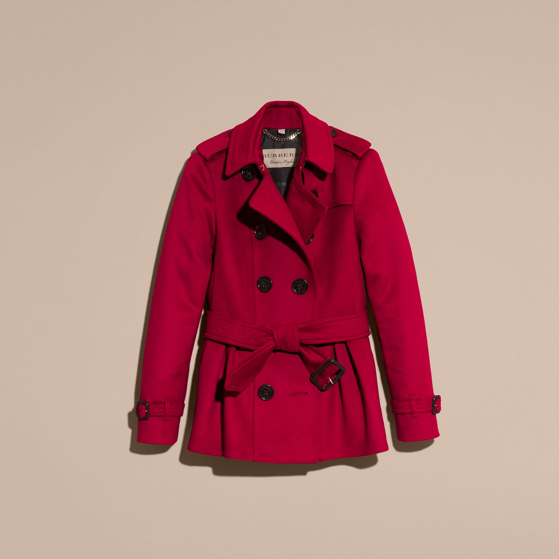 Parade red Wool Cashmere Trench Jacket - gallery image 4