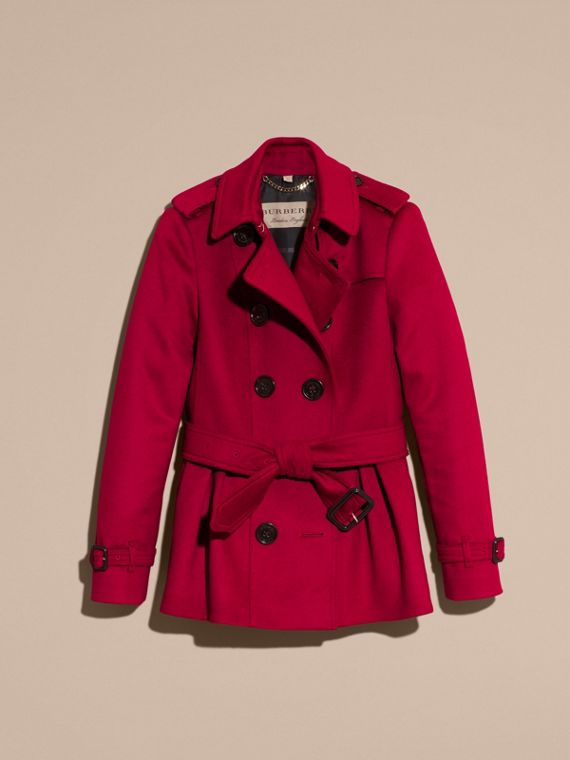 Parade red Wool Cashmere Trench Jacket - cell image 3