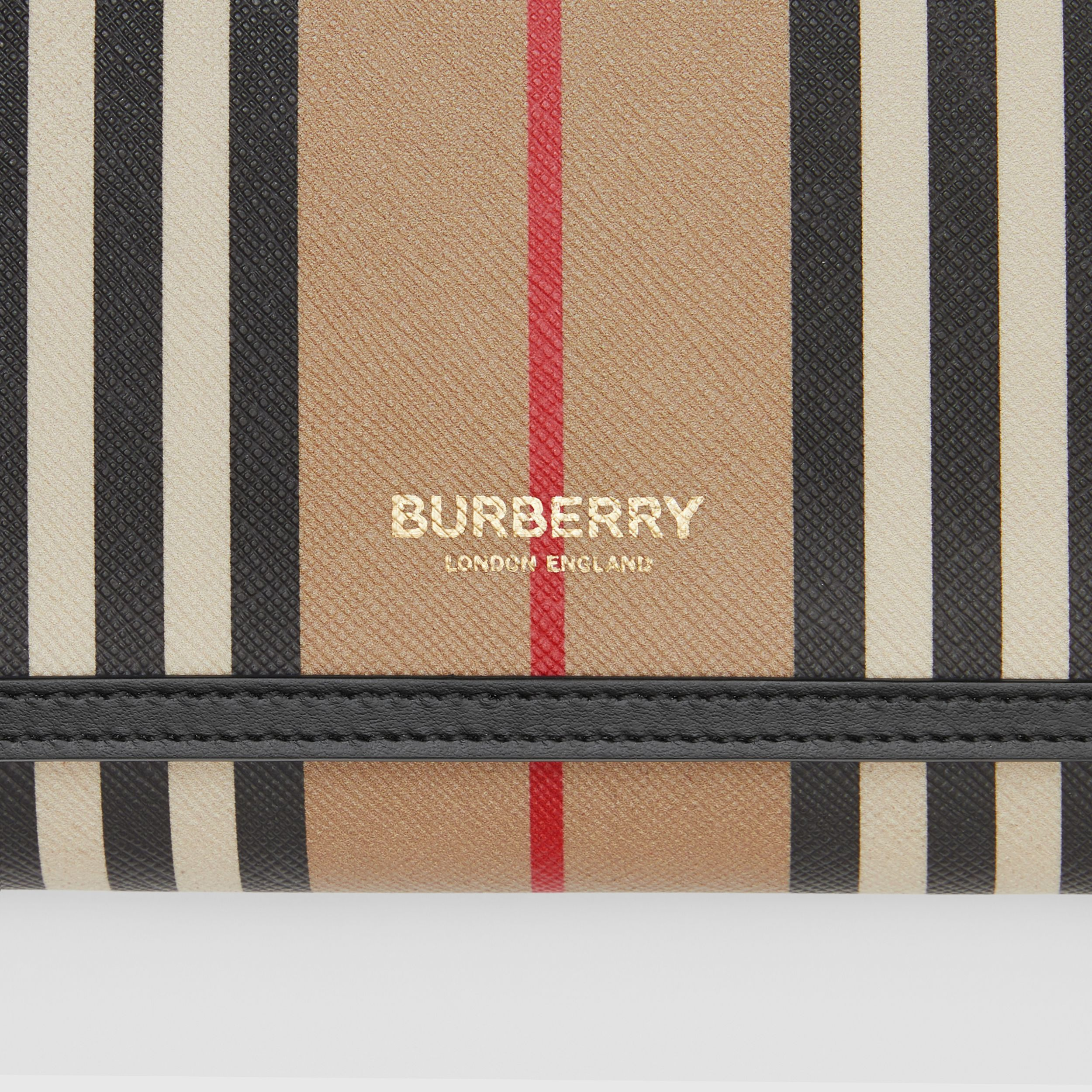 Icon Stripe E-canvas Wallet with Detachable Strap in Archive Beige - Women | Burberry United Kingdom - 2