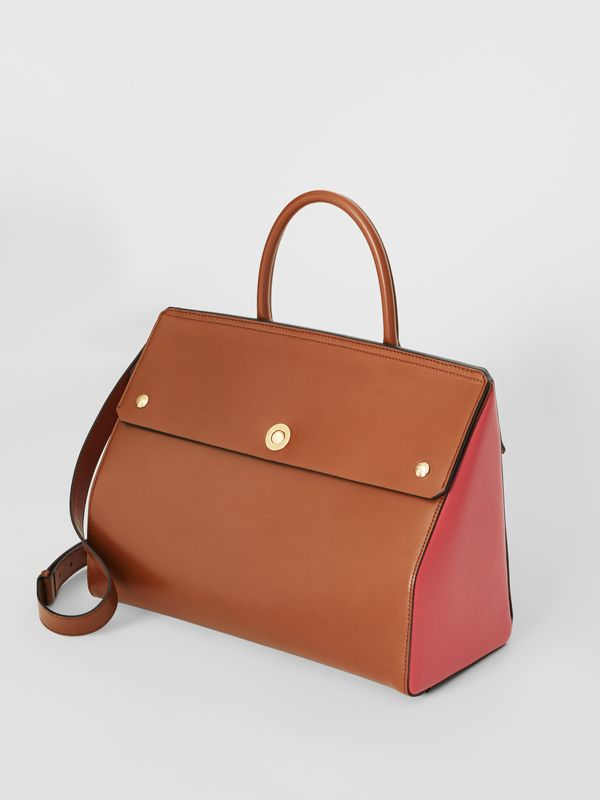 Medium Leather Elizabeth Bag in Malt Brown - Women | Burberry - cell image 2