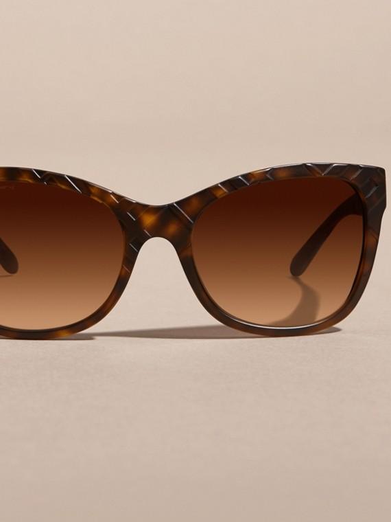 Tortoise shell 3D Check Square Frame Sunglasses Tortoise Shell - cell image 2