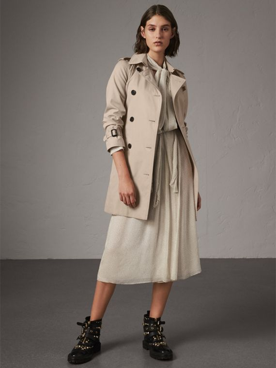The Kensington – Mid-length Trench Coat in Stone