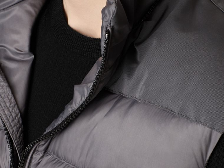 Storm grey Down-filled Gilet with Detachable Hood - cell image 1