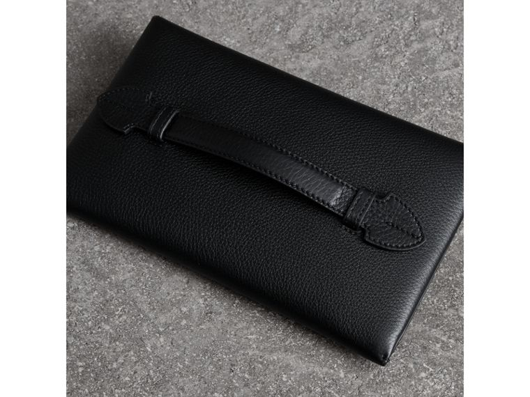 Two-tone Leather Wristlet Clutch in Black - Women | Burberry - cell image 4