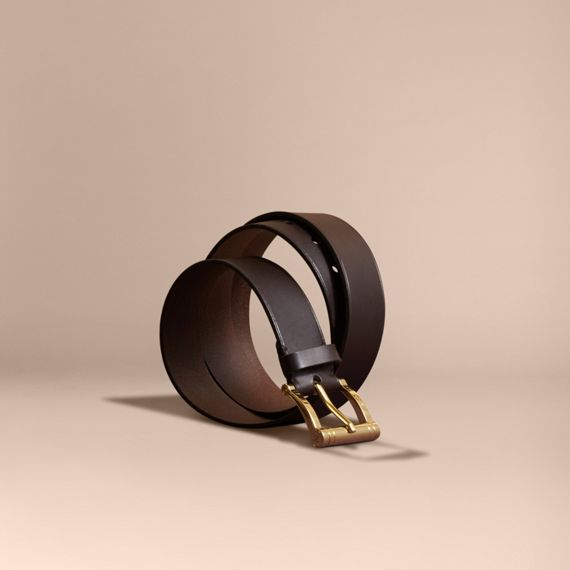 Bridle Leather Belt Dark Clove Brown
