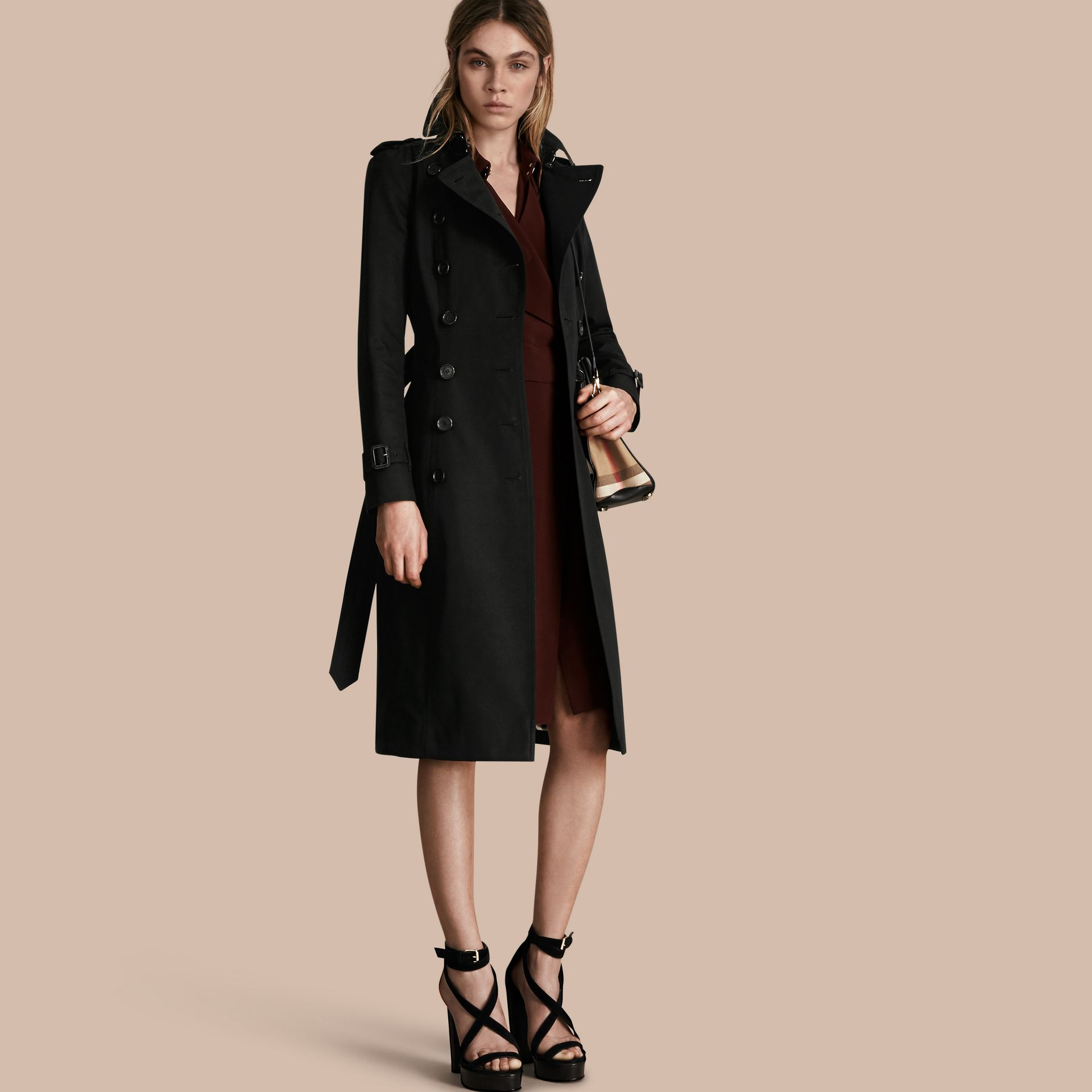 Black The Chelsea – Extra-long Heritage Trench Coat Black - gallery image 1