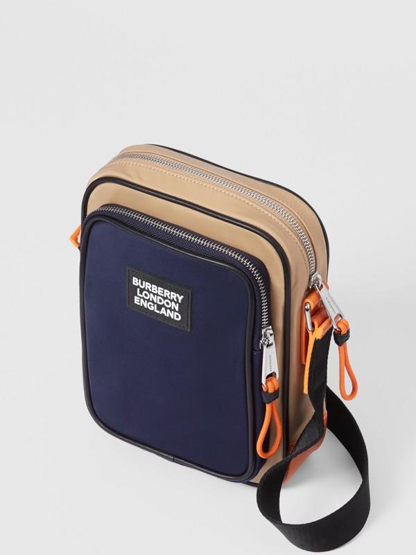 Logo Appliqué Two-tone ECONYL® Crossbody Bag in Regency Blue/bright Orange - Men | Burberry United Kingdom - cell image 3