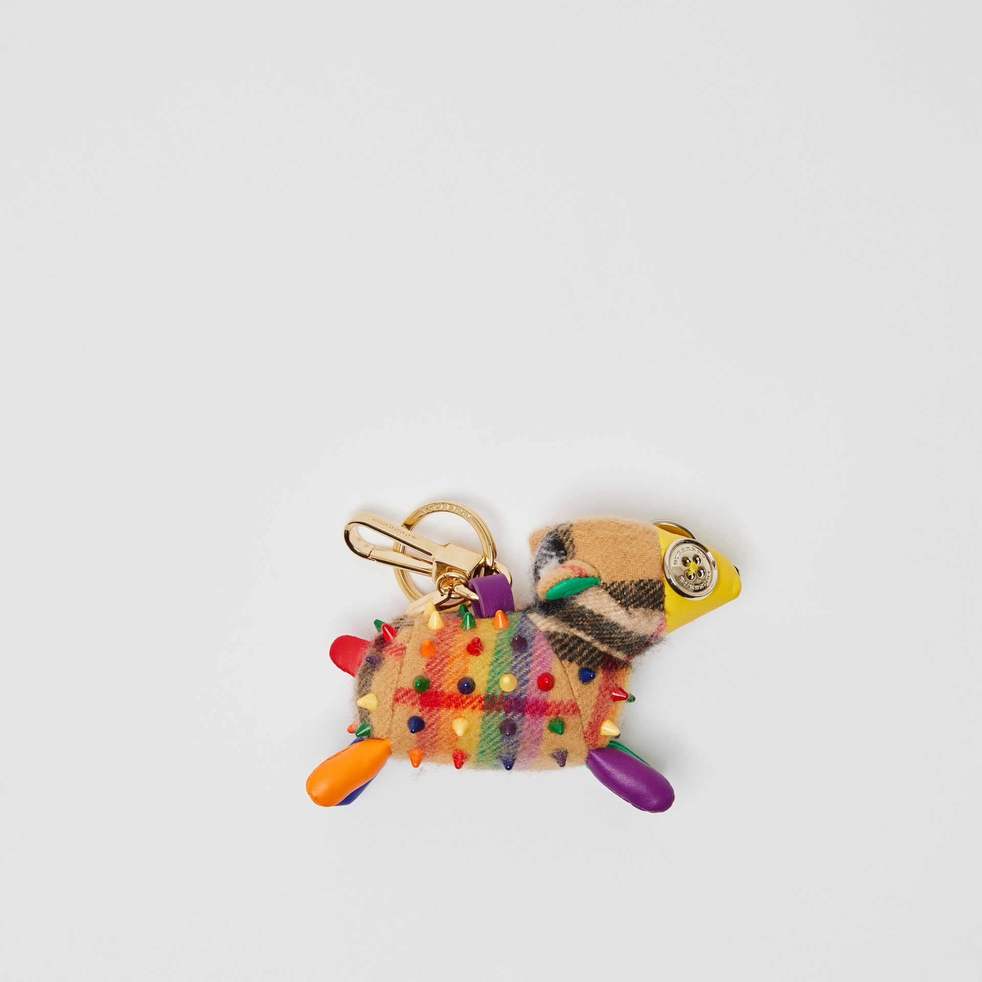 Wendy The Sheep Rainbow Vintage Check Charm in Multicolour/antique Yellow | Burberry Australia - gallery image 0
