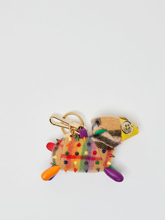 Wendy The Sheep Rainbow Vintage Check Charm in Multicolour/antique Yellow