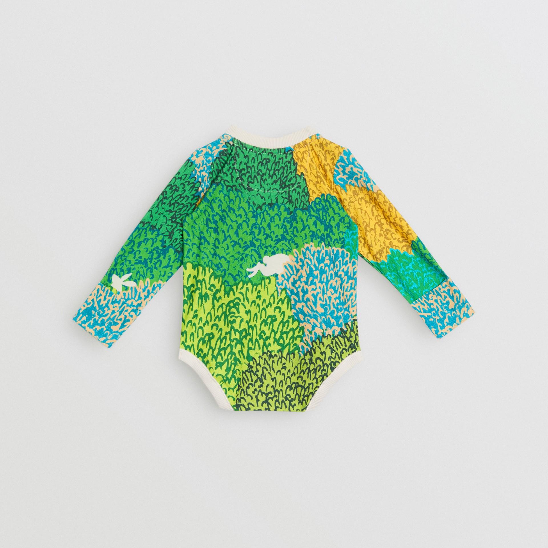 Body de algodão com estampa gráfica Explore (Areia) - Crianças | Burberry - galeria de imagens 3