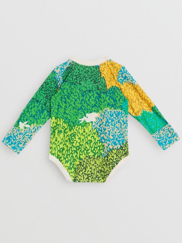 Body de algodão com estampa gráfica Explore (Areia) - Crianças | Burberry - cell image 3