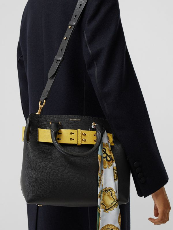 The Small Leather Belt Bag in Black/yellow - Women | Burberry Singapore - cell image 3