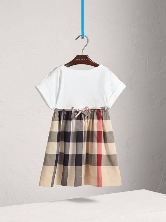 Check Cotton Dress in New Classic - Girl | Burberry United Kingdom - cell image 2