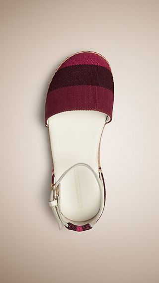 Canvas Check Espadrille Sandals