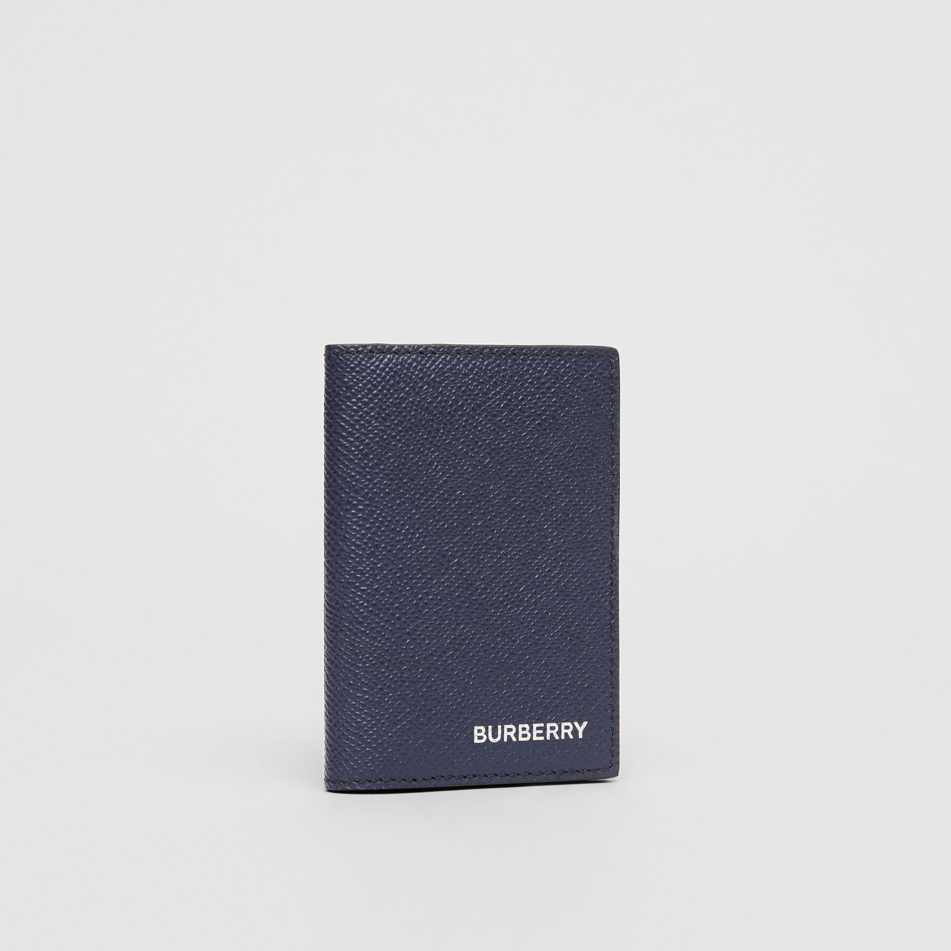 Grainy Leather Bifold Card Case in Regency Blue - Men | Burberry Singapore - gallery image 3
