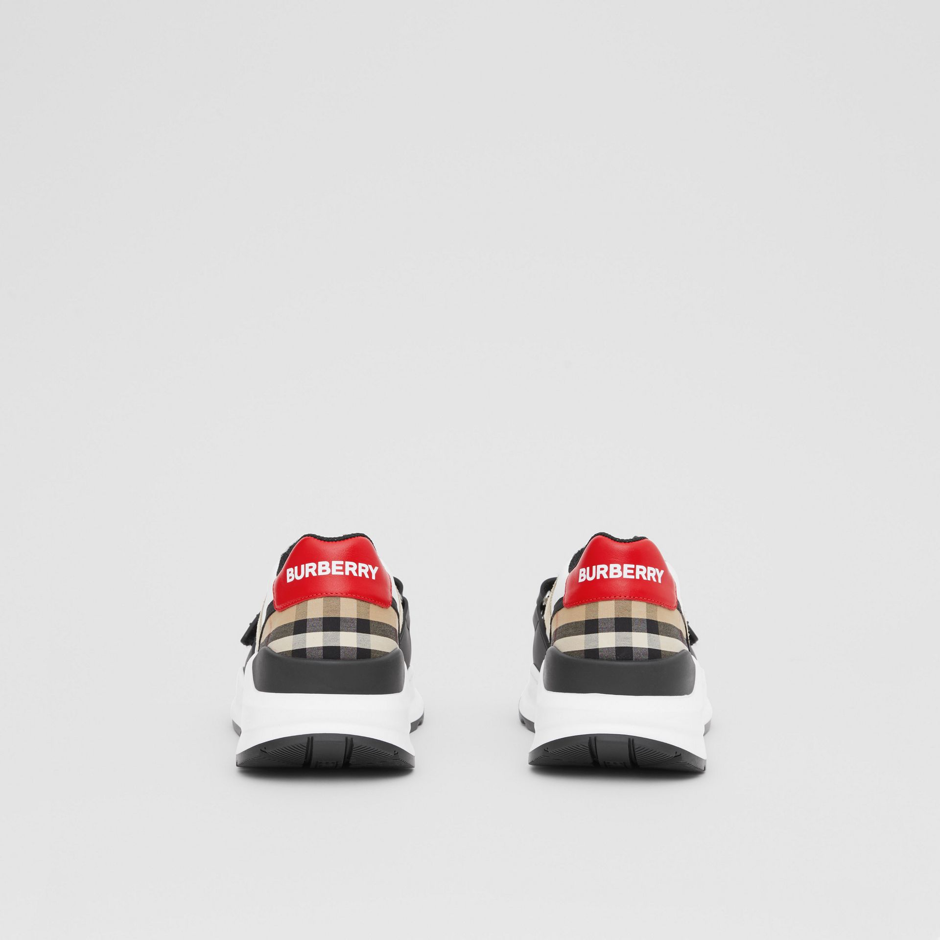 Nylon, Suede and Vintage Check Sneakers in Archive Beige - Women | Burberry United Kingdom - gallery image 3